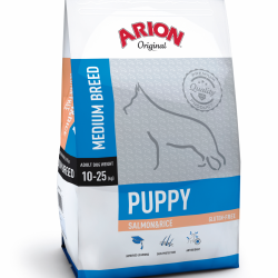 Arion Original Puppy Medium cu Somon si Orez