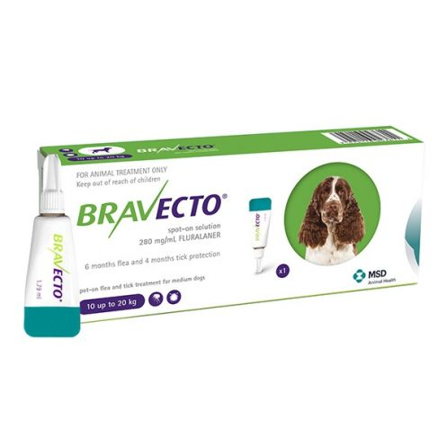 Bravecto spot on (10-20 kg) 1 pipeta