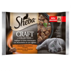 SHEBA Craft Collection Varietate de Carne în Sos 85 g 4 + 4 GRATIS x7